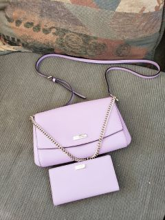 Kate Spade Lilac Crossbody and Wallet Set