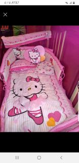 Looking for a complete hello kitty bedding crib