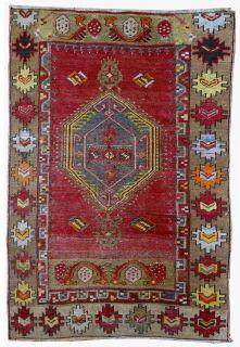 Handmade antique Turkish Anatolian rug, 1B28