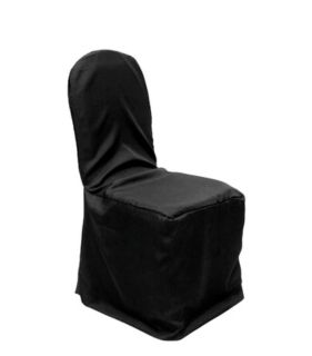 Nwt 16 new unopened black banquet chair covers