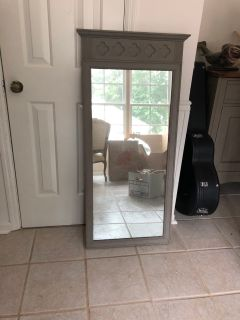 Large Grey Mirror