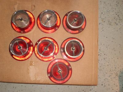 1963 63 Chevy Impala Tail Light Lens Set 409 327 SS 283