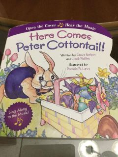 VGUC! Board Book! Here Comes Peter Cottontail Children s Book! NS Meet AB Park or PPU
