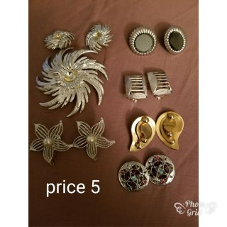 Clip on ear ring and pin