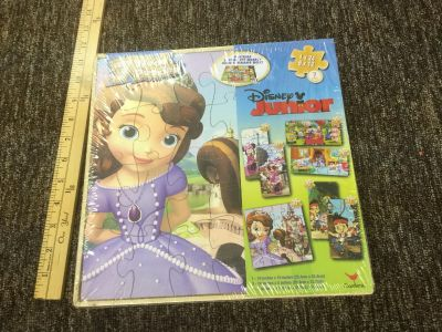 Brand NEW, SEALED, Disney Junior Sofia the First, Doc Mcstuffins, Minnie Mouse and Jake the Neverland Pirates puzzle set, $4.00