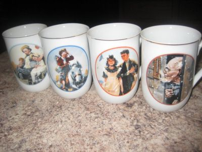 Norman Rockwell (2 Sets of 4) Mugs