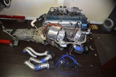 Toyota Supra HKS Twin Turbo 6 Speed VVTI Engine 2JZGTE JZA80