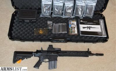 For Sale: KNIGHTS ARMAMENT SR25 ECC RIFLE WITH EXTRAS