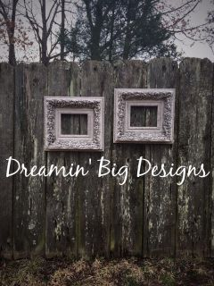 Hand Painted Heavy Wood Open Back 8x10 Pair of Frames