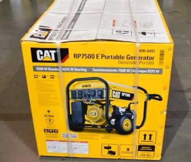 Sealed Cat RP7500E Portable Gas Powered Generator 7500 Running Watts 490-6491