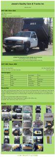 $25,992, 2007 Gmc Sierra 3500 Duramax Diesel Dump Truck & Fisher Plow 44k Low Miles Ready To Work