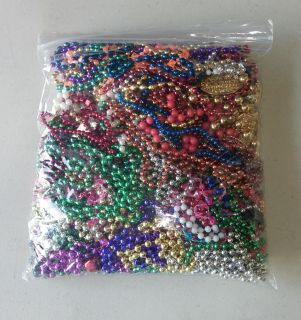 Assorted Multi-Colored Mardi Gras Beads/Necklaces Party Favors - Over 60 Ct.