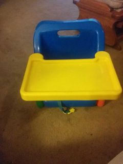 Booster Seat with Tray and Straps