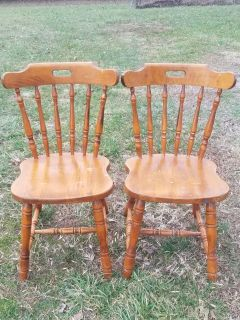 2 Matching Wood Chairs ($40 Each)