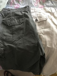 Men s cargo shorts size 36 waist. Price is for two pair.