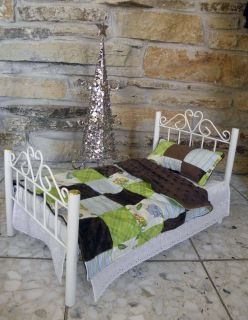 """Handmade 18"""" Doll Bed Quilt for Soft Bodied dolls such as American Girl"""