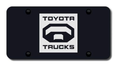 Buy Toyota Truck Laser Etched Black License Plate Made in USA Genuine motorcycle in San Tan Valley, Arizona, US, for US $39.52