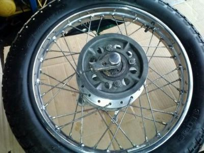 Purchase 1972 HONDA CL 350 SCRAMBLER CLEAN REAR RIM WITH GOOD CHROME / WHEEL TIRE motorcycle in Longmont, Colorado, US, for US $85.00