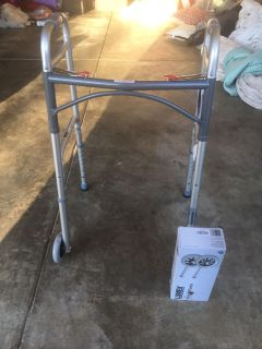 New walker and extra wheels