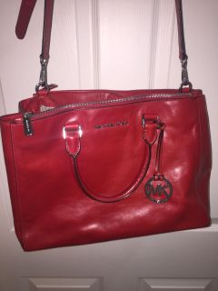 Authentic Michael Kors Red purse