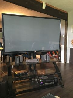 65 LG plasma smart tv with stand