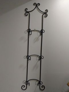 Plate rack - wrought iron