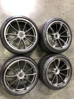 FS: OEM 991.2 GT3 Touring Wheels in Satin Platinum