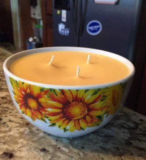 Hand poured three wick patio candle 16oz