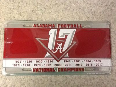 Alabama National Champions Tag . NEW Still sealed . See additional pic.