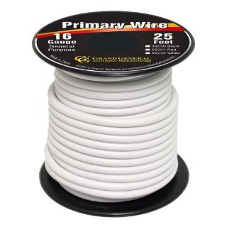 Sell White 16-Gauge Primary Wire Roll of 25Ft motorcycle in Sylmar, California, United States, for US $4.99