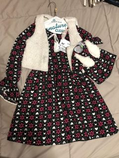 Dollie and me sz 7 dress and doll dress