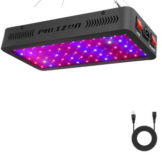 Phlizon 600W LED Plant Grow Light, Full Spectrum Double Switch Plant Light for Indoor Plants Veg and Flower- 600W(10W LEDs 60Pcs)