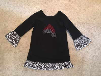 Lolly Wolly Doodle boutique embellished corduroy dress size 5, like new