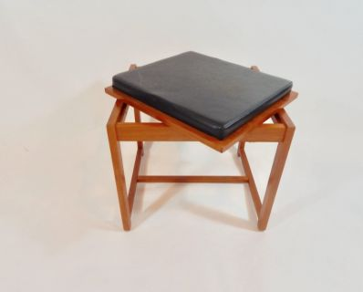 flip top table / stool by erik buch for O D Mobler