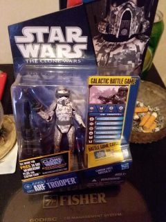 Star wars the clone wars arf trooper still in the package brand new never been opened once