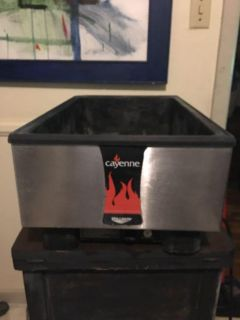 Commercial restaurant cayenne food warmer