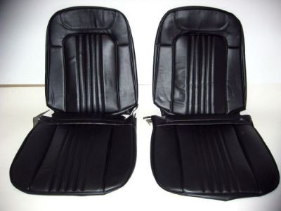 Sell 71 72 Chevelle El Camino Bucket Seat Covers black motorcycle in Placentia, California, United States