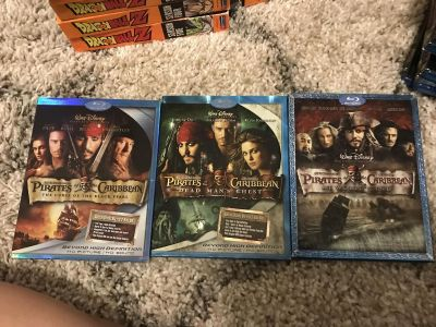 Pirates of the Caribbean 1-3 Blu Ray