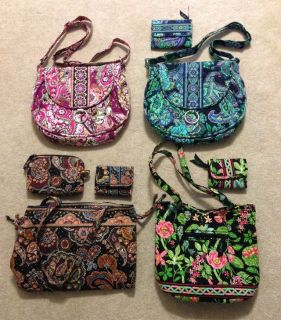 Vera Bradley Purses (4), some with wallet or cosmetic pouch, excellent