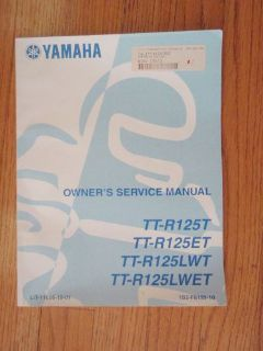 Find GENUINE YAMAHA TT-R125 MOTORCYCLE SERVICE MANUAL NEW motorcycle in Prior Lake, Minnesota, United States, for US $16.99