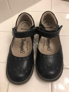 Footmate Navy Mary Jane Velcro Shoes