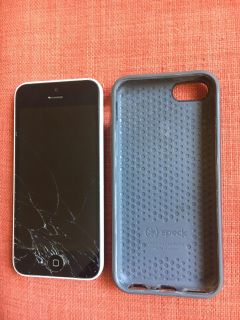 iPhone 5c with Speck case