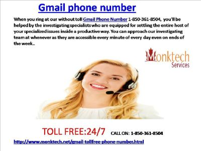 Gmail phone Number: one Stop answer to your problems 1-850-361-8504
