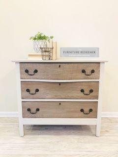 Beautiful two tone dresser chest of drawers