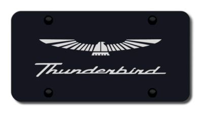 Purchase Ford Thunderbird Laser Etched Black License Plate Made in USA Genuine motorcycle in San Tan Valley, Arizona, US, for US $39.52