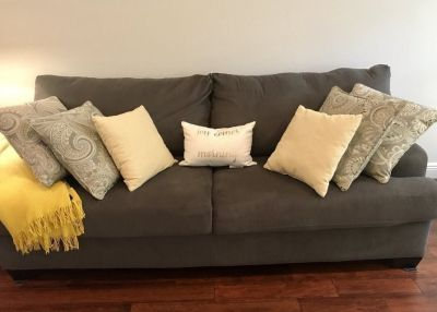 Dark Gray Sofa and Love Seat