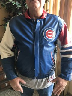 Chicago Cubs Designer Large Leather Jacket