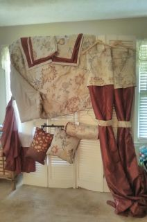 Brand New Queen Comforter Set w/ curtains, pillows and shams
