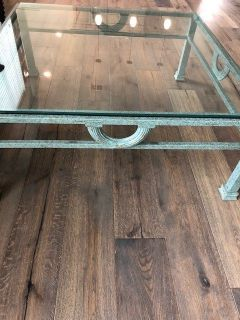 Large Designer Metal/Glass Coffee Table