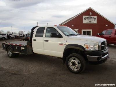 2009 Dodge Ram Chassis 4500 Crew Cab LWB Flatbed 4x4 (White)